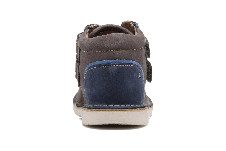 Chaussures à scratch Kickers Wapa Gris vue droite