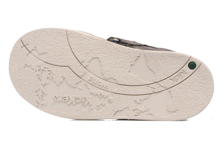 Chaussures à scratch Kickers Wapa Gris vue haut