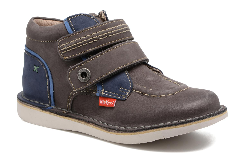 Chaussures à scratch Kickers Wapa Gris vue détail/paire