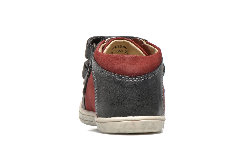 Chaussures à scratch Kickers Trala Gris vue droite