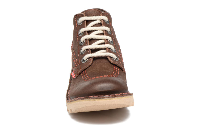 Chaussures à lacets Kickers Neorallye Marron vue portées chaussures