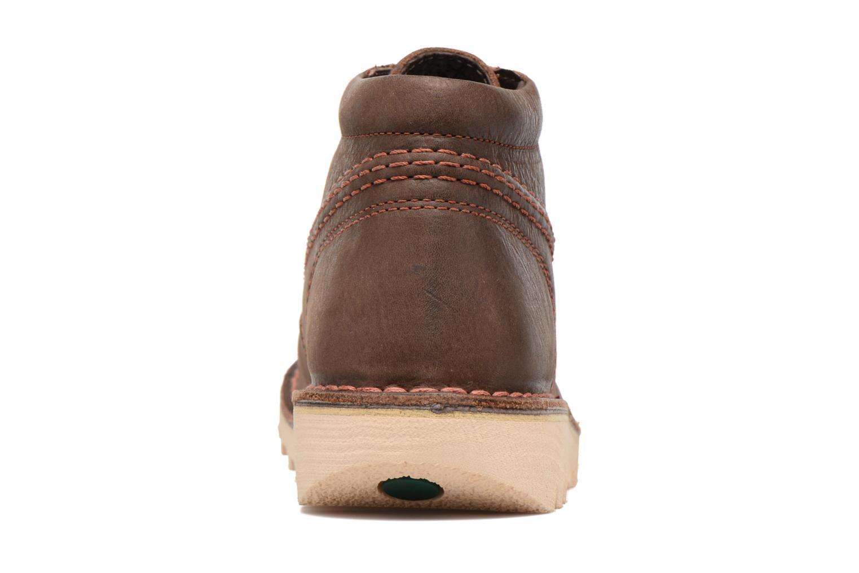Chaussures à lacets Kickers Neorallye Marron vue droite