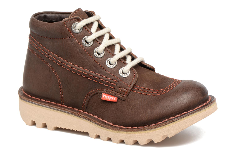Chaussures à lacets Kickers Neorallye Marron vue détail/paire