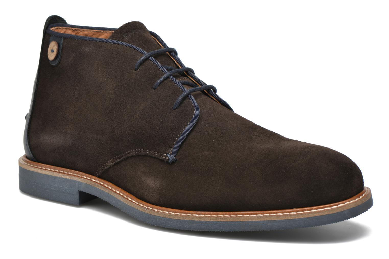 Chaussures à lacets Faguo Lime Noir vue détail/paire