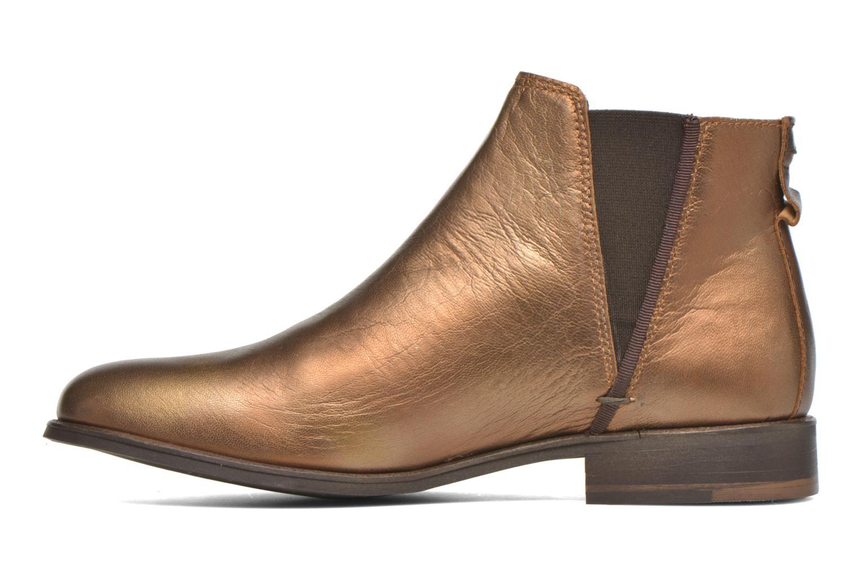 Bottines et boots Faguo Cherry Or et bronze vue face