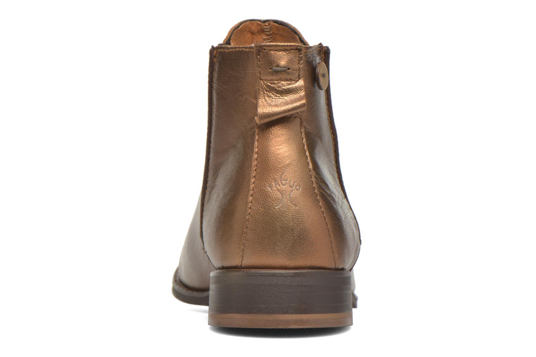 Bottines et boots Faguo Cherry Or et bronze vue droite