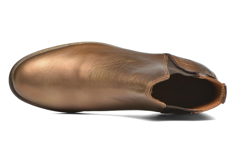 Bottines et boots Faguo Cherry Or et bronze vue gauche