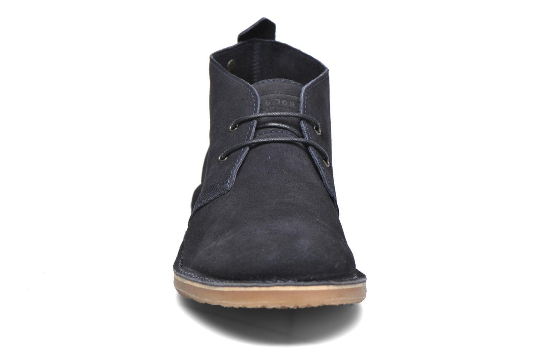 Schnürschuhe Jack & Jones JJ Gobi Suede Desert Boot blau schuhe getragen