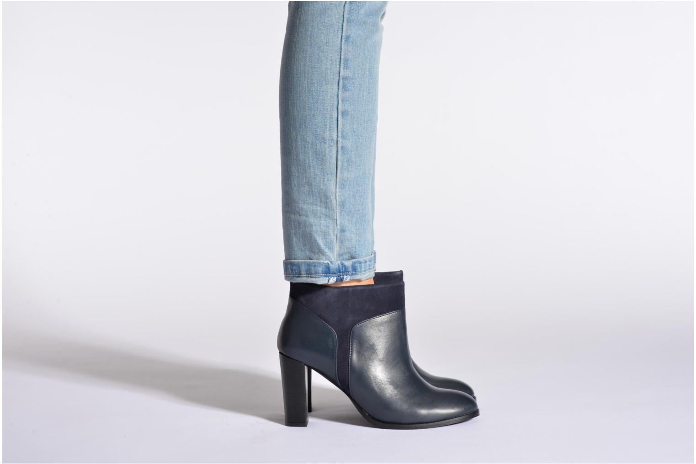 Bottines et boots COSMOPARIS Valaya/bi Bleu vue bas / vue portée sac