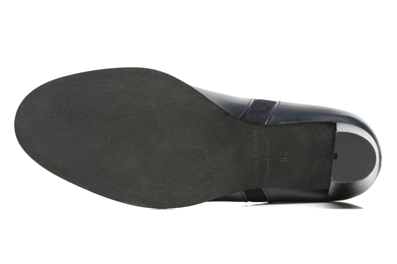 Bottines et boots COSMOPARIS Valaya/bi Bleu vue haut