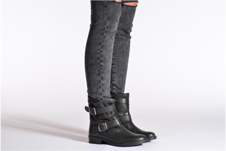 Bottines et boots COSMOPARIS Fatana Noir vue bas / vue portée sac