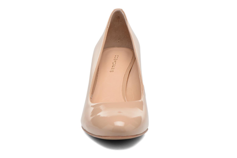 Escarpins COSMOPARIS Jennie Ver Prune Beige vue portées chaussures