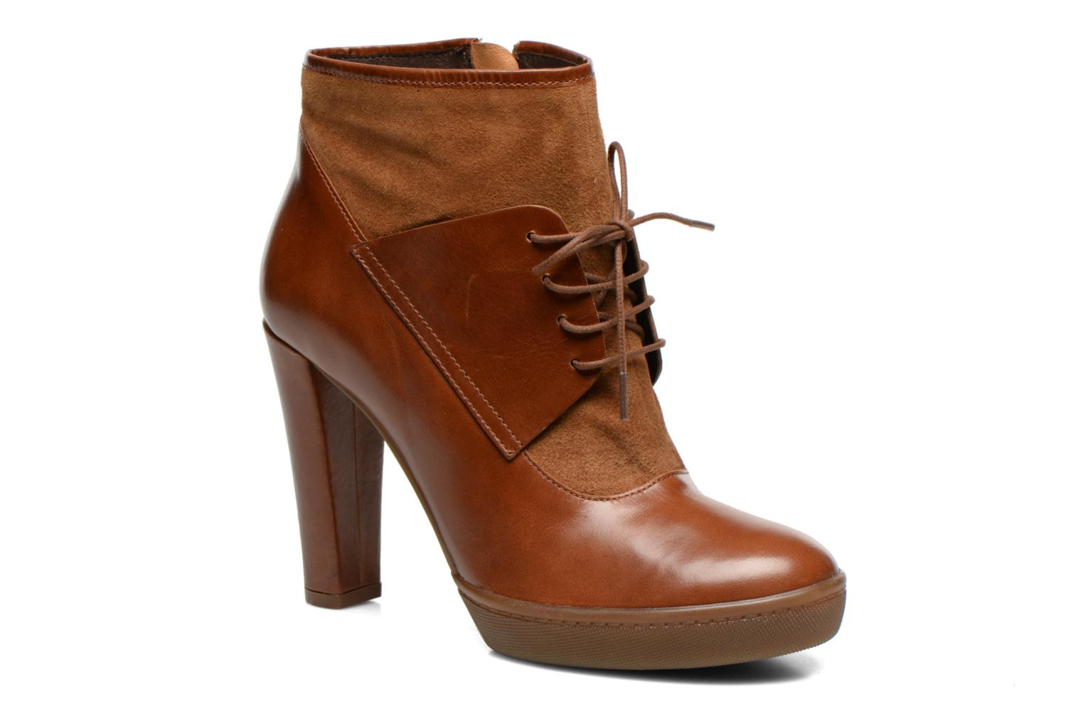 Bottines et boots COSMOPARIS Edea Marron vue détail/paire