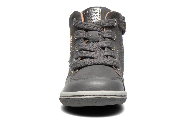 Baskets Geox B Flick G. K Gris vue portées chaussures