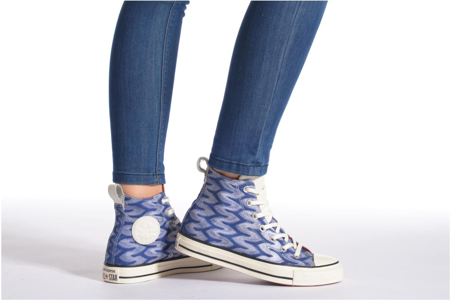 Baskets Converse Chuck Taylor All Star Missoni Hi W Multicolore vue bas / vue portée sac