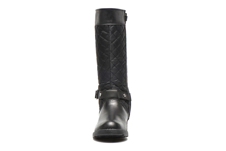 Bottes Geox J Sofia B Abx B - Nyl+Vit.Lis Noir vue portées chaussures