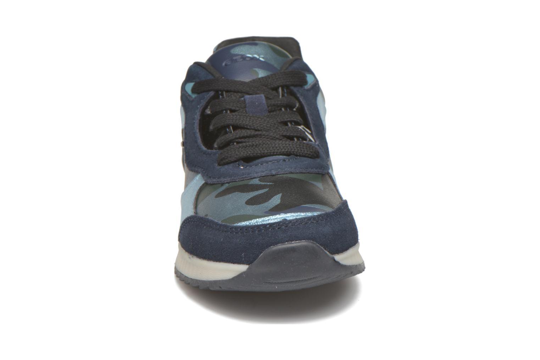 Baskets Geox J Maisie G. E Bleu vue portées chaussures