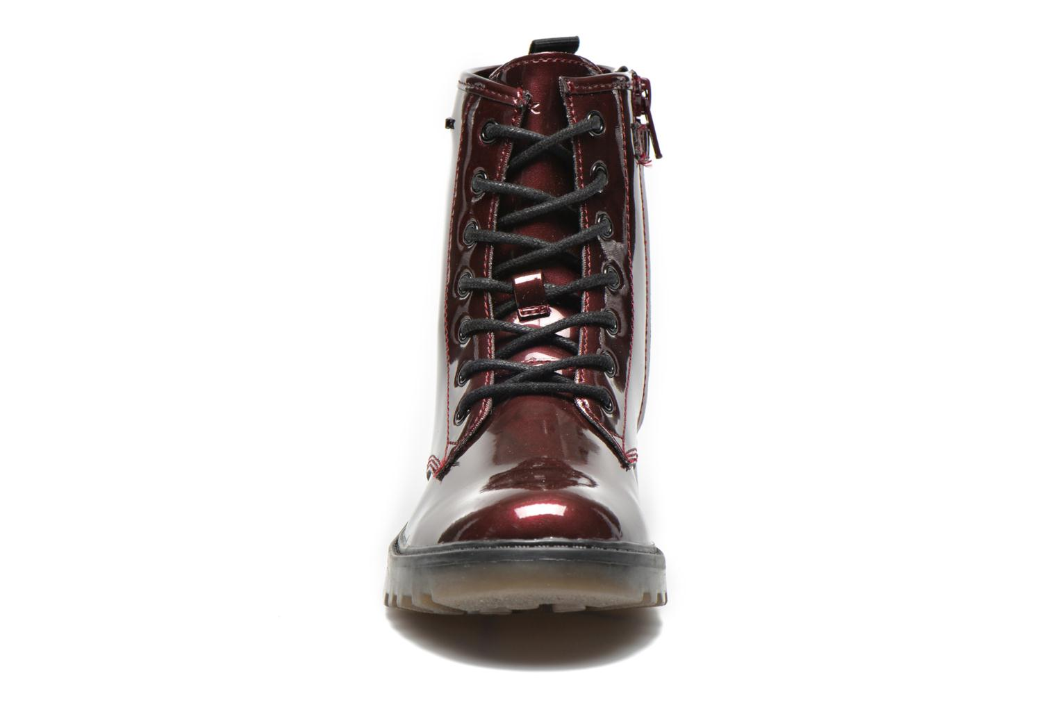 Ankle boots Geox J Casey Girl K Burgundy model view