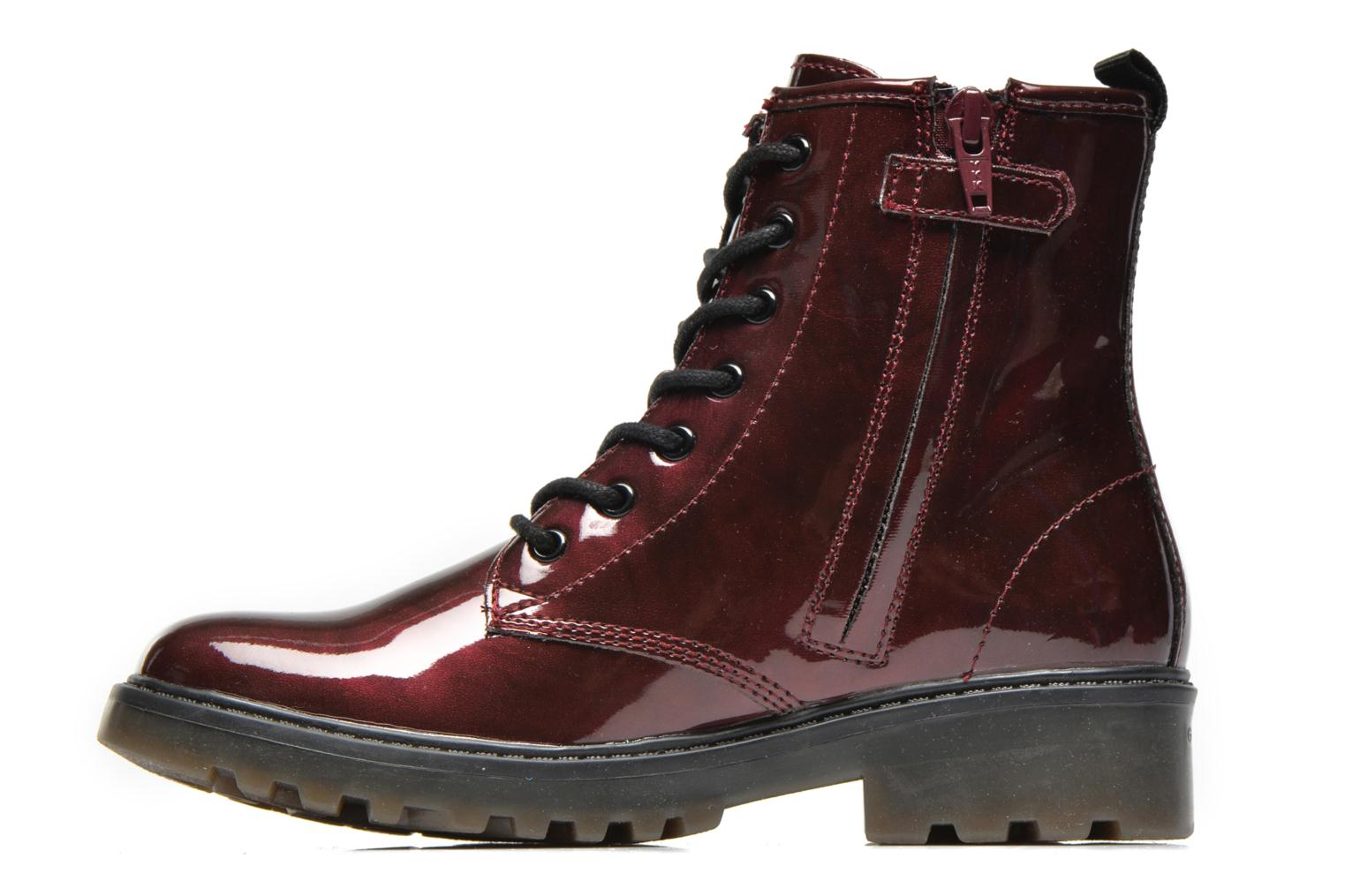 Ankle boots Geox J Casey Girl K Burgundy front view