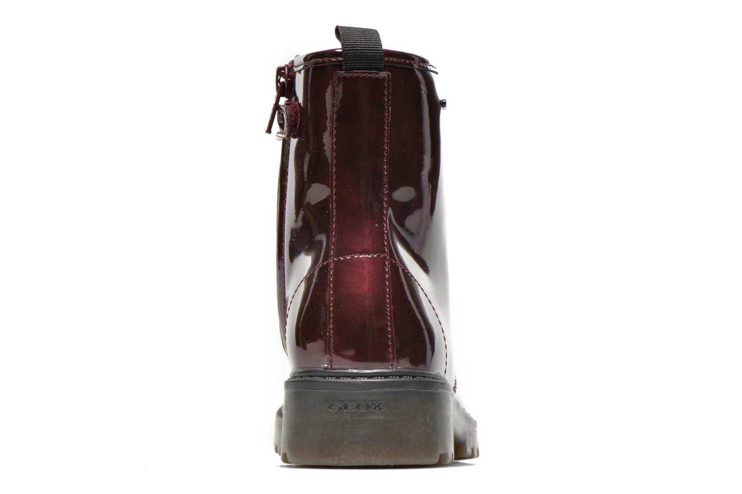 Ankle boots Geox J Casey Girl K Burgundy view from the right