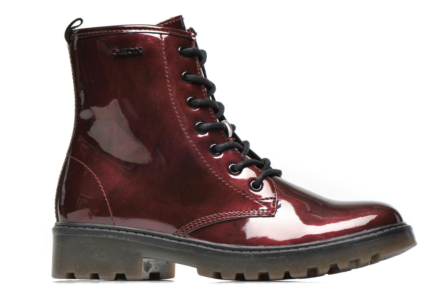 Ankle boots Geox J Casey Girl K Burgundy back view
