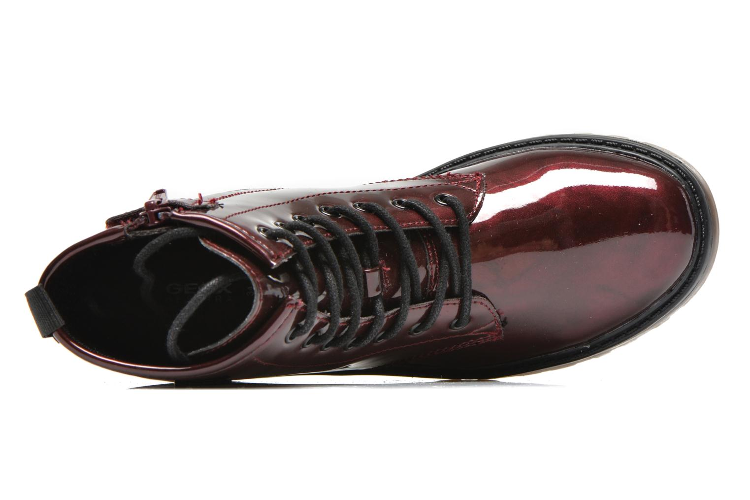 Ankle boots Geox J Casey Girl K Burgundy view from the left