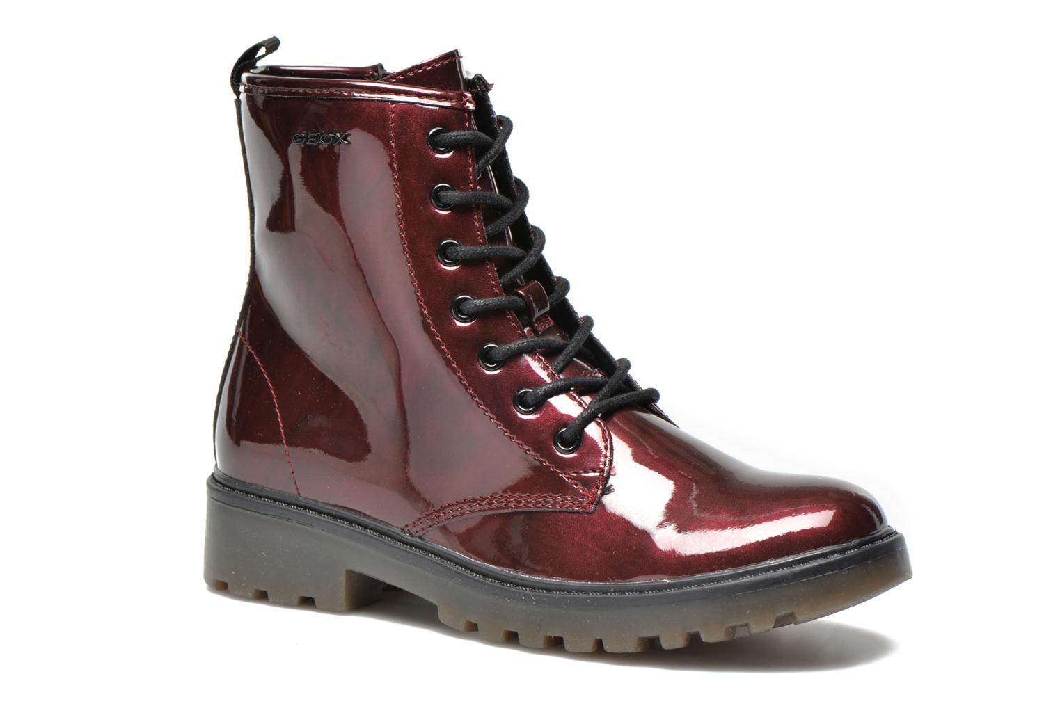 Ankle boots Geox J Casey Girl K Burgundy detailed view/ Pair view