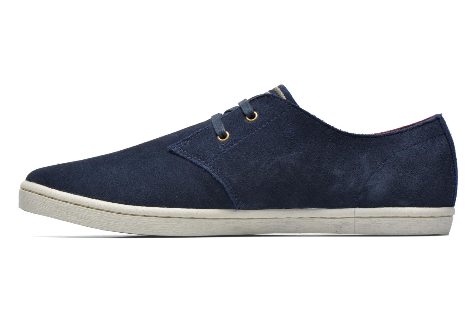 Baskets Fred Perry Byron Low Suede Bleu vue face