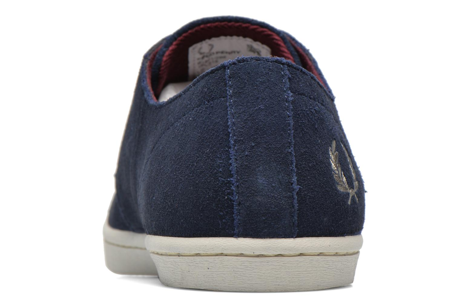 Baskets Fred Perry Byron Low Suede Bleu vue droite
