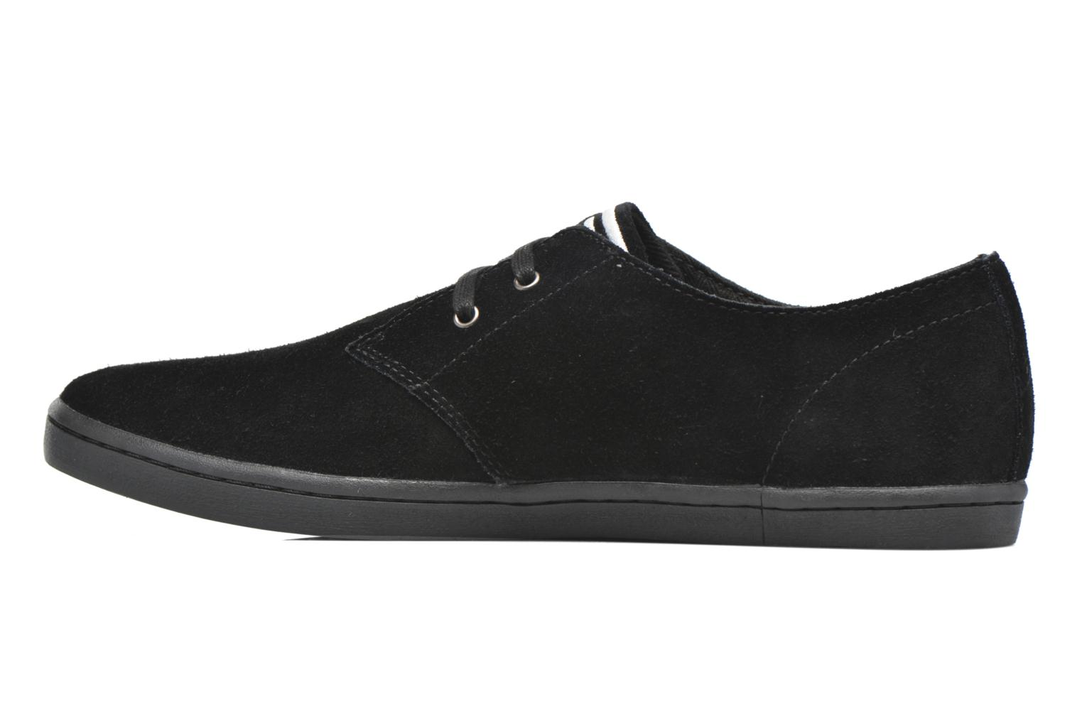 Baskets Fred Perry Byron Low Suede Noir vue face