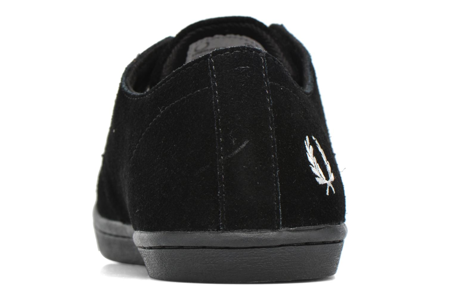 Baskets Fred Perry Byron Low Suede Noir vue droite