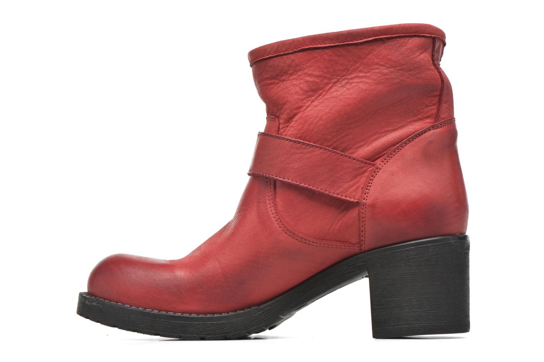 Bottines et boots Georgia Rose Malix Rouge vue face