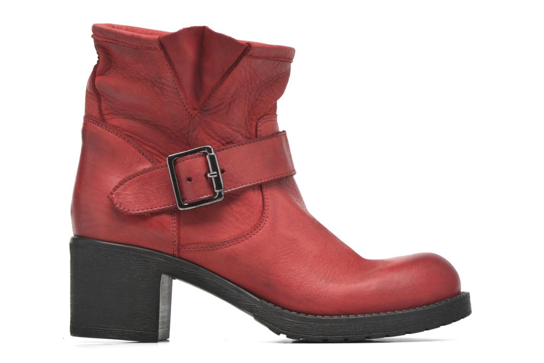 Bottines et boots Georgia Rose Malix Rouge vue derrière
