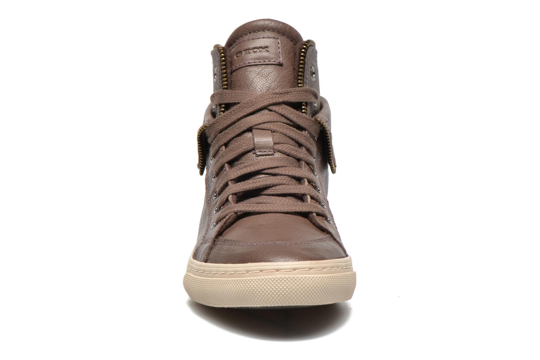 Sneaker Geox D NEW CLUB D D5458D grau schuhe getragen