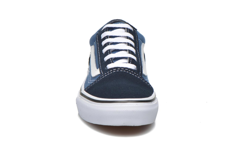 Sneaker Vans Old Skool E blau schuhe getragen