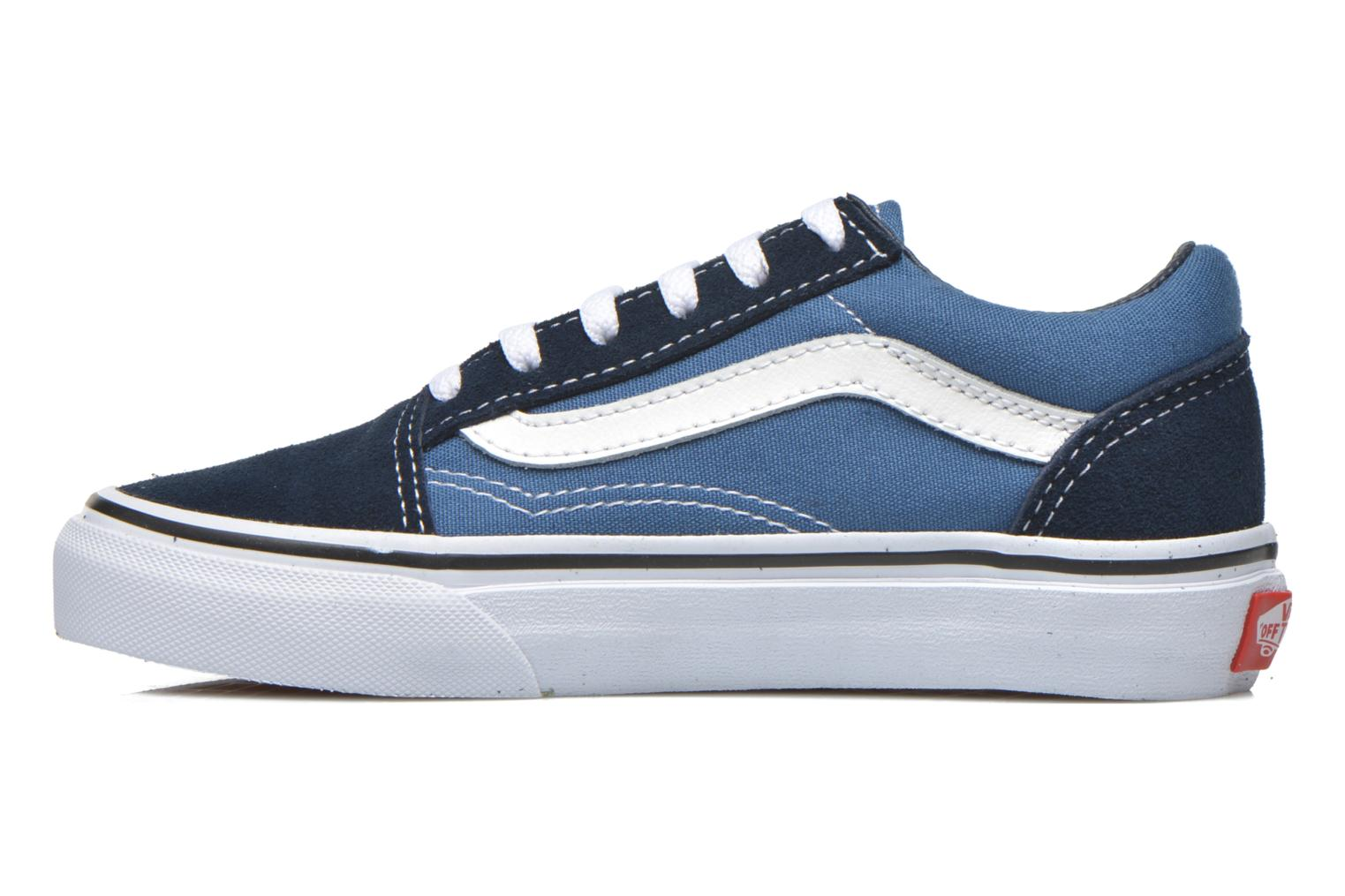 (Suede/Canvas) Ultramarine Green/True White Vans Old Skool E (Vert)