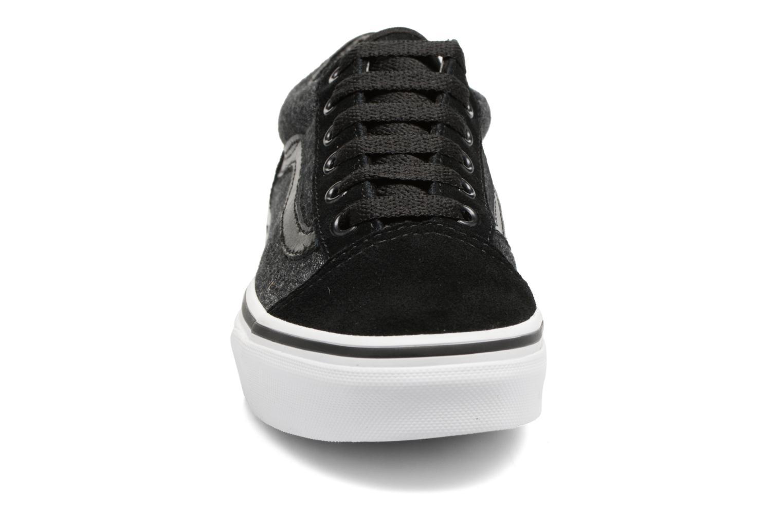 Sneaker Vans Old Skool E schwarz schuhe getragen