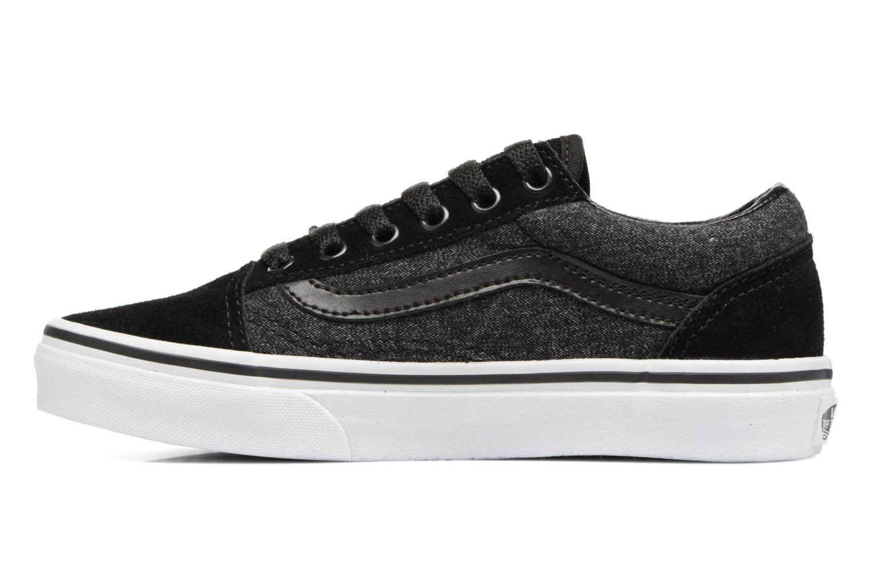 Sneaker Vans Old Skool E schwarz ansicht von vorne