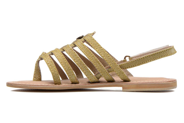 Sandali e scarpe aperte Initiale Paris Menthe K Oro e bronzo immagine frontale