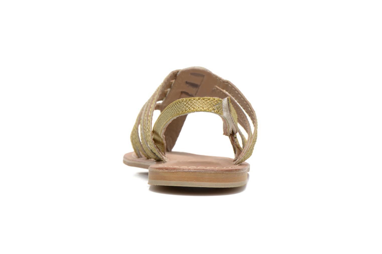 Sandales et nu-pieds Initiale Paris Menthe K Or et bronze vue droite