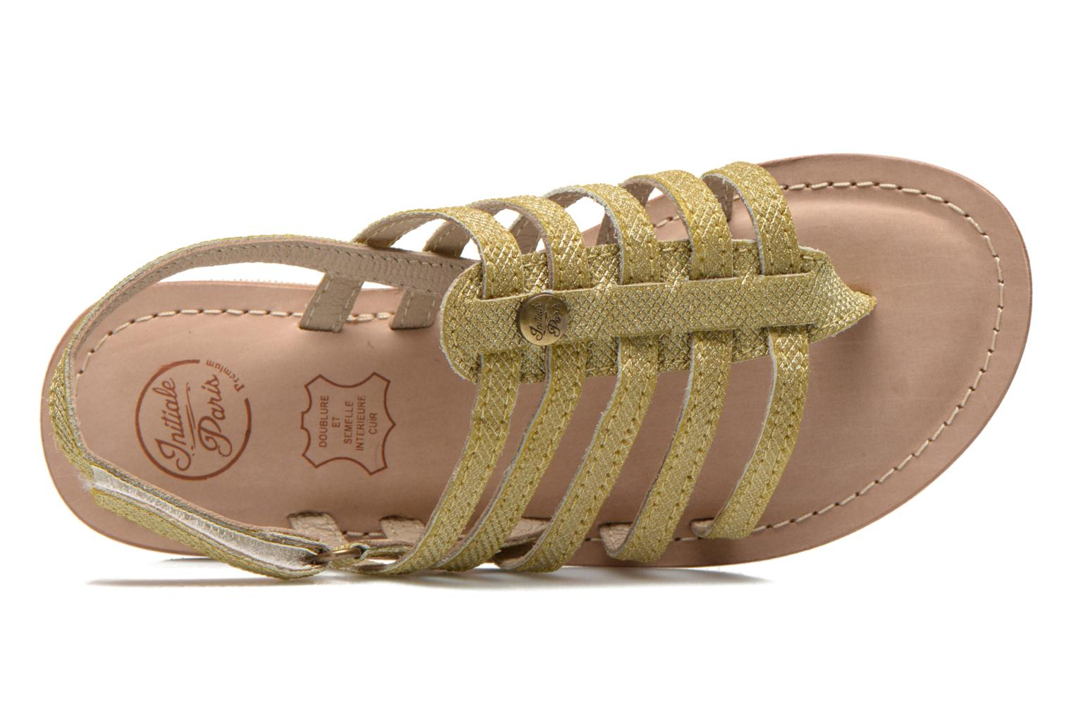 Sandals Initiale Paris Menthe K Bronze and Gold view from the left