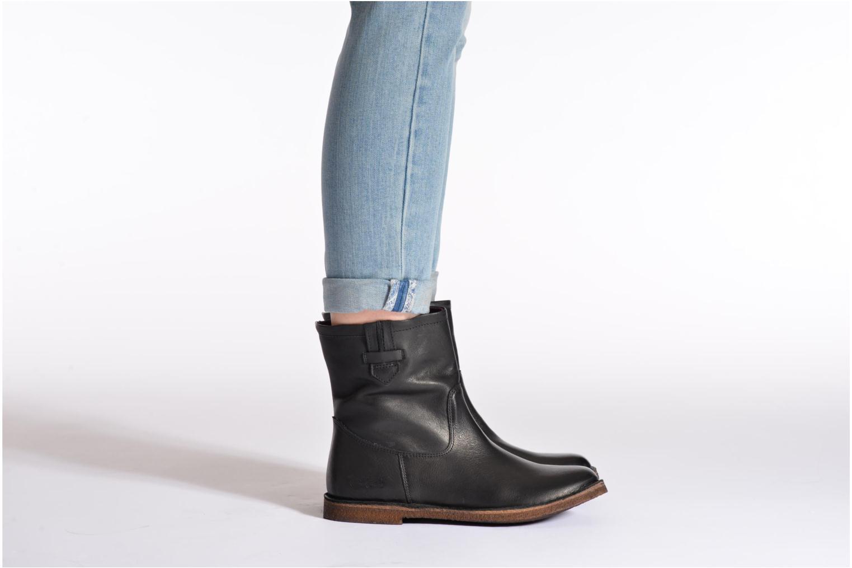 Bottines et boots Kickers cresson Gris vue bas / vue portée sac