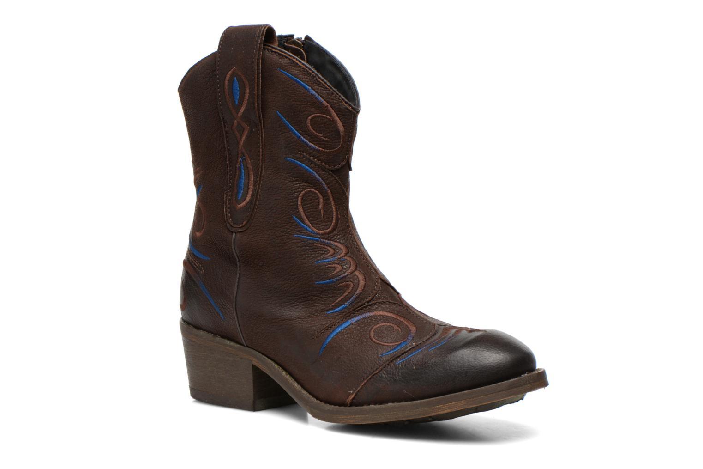 Bottines et boots Dkode Jonas Marron vue détail/paire