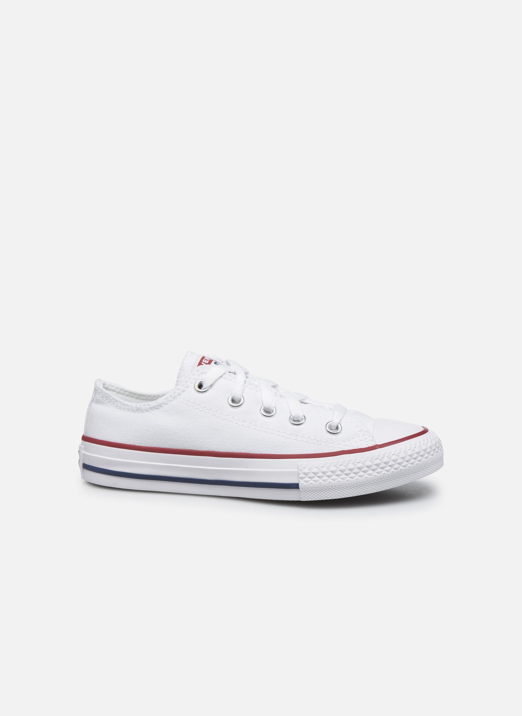 Sneaker Converse Chuck Taylor All Star Core Ox weiß ansicht von hinten