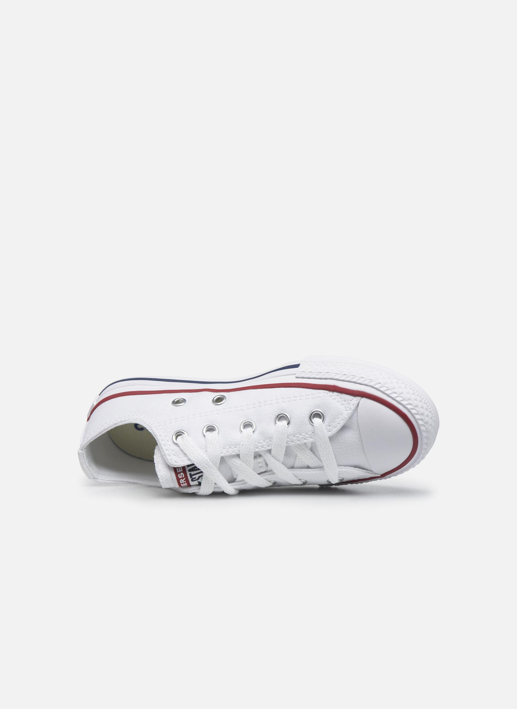 Sneaker Converse Chuck Taylor All Star Core Ox weiß ansicht von links