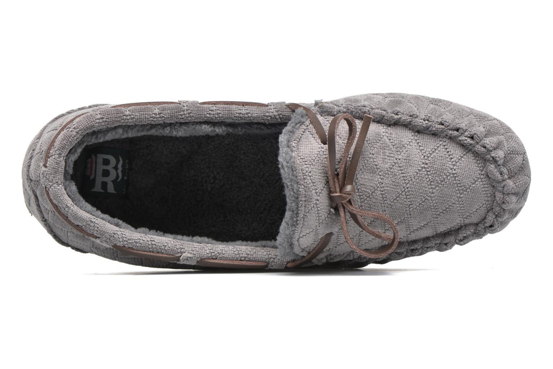 Pantoffels Ruby Brown John Grijs links