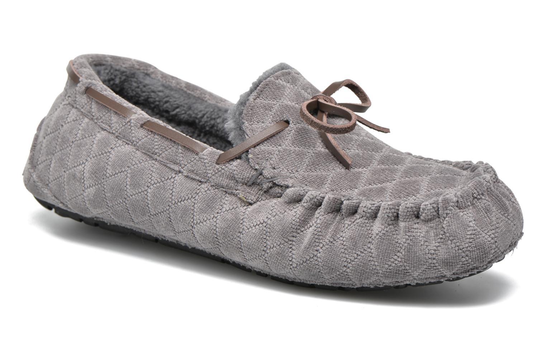 Pantoffels Ruby Brown John Grijs detail
