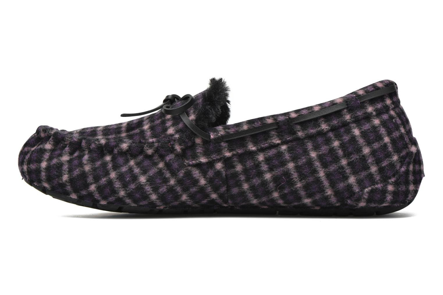 Slippers Ruby Brown Check mocassin M Black front view