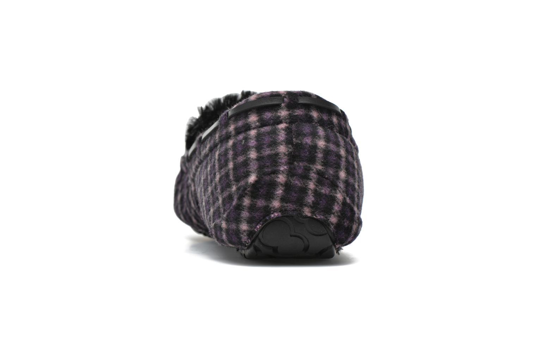 Hausschuhe Ruby Brown Check mocassin M schwarz ansicht von rechts