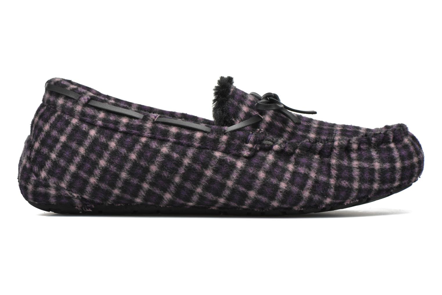 Slippers Ruby Brown Check mocassin M Black back view